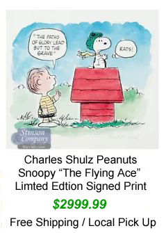 Charles Schulz Limeted Edtion Print