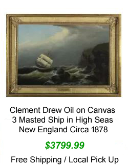 Clemet Drew Oil on Canvas Painting